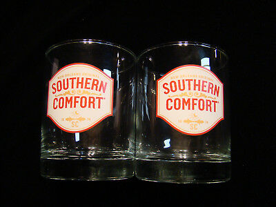Southern Comfort Tumblers / Cocktails / On The Rocks-Glass -Vgc