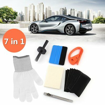 7 in1 Car Window Tint Auto Film Wrapping Tools Rubber Squeegee Vinyl Scraper BP