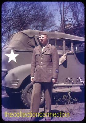 1943 35mm Slide WWII US Army Air Force Cadet ID'd Military Truck Wofford College
