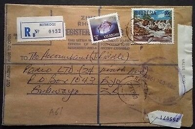 RARE Rhodesia Zimbabwe Registered Mail