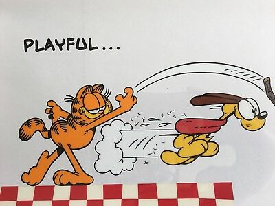 Jim Davis Garfield Limited Edition Sericel Playful 1993 Authentic