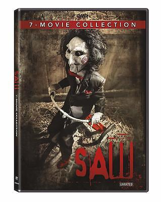 Saw Complete Movie Collection 1 2 3 4 5 6 7 Series Dvd Box Set Horror Unrate