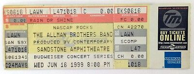 ALLMAN BROTHERS BAND Ticket (complete) / 6-16-1999 / Kansas City, KS / Sandstone
