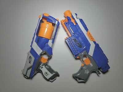 LOT OF TWO (2) Nerf Guns. Nerf Strongarm Revolver & Nerf Stryfe Rifle (No Clips)