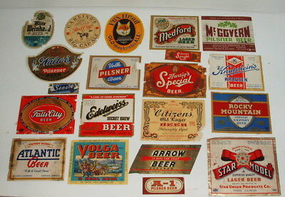 1940s AND 50s COLLECTION OF BEER BOTTLE LABELS LOT #2