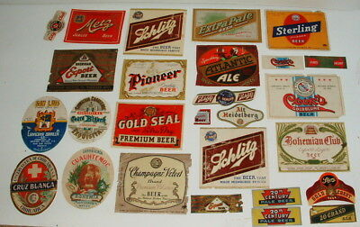 1940s AND 50s COLLECTION OF BEER BOTTLE LABELS LOT #3