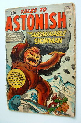 1961 Tales To Astonish Issue #24 Comic Book Complete 2.0 Condition