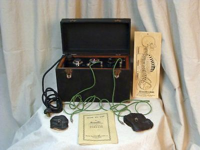 "Antique Medical Quackery ""Electro-Therapy"" Treatment Machine By Sinette - Works!"