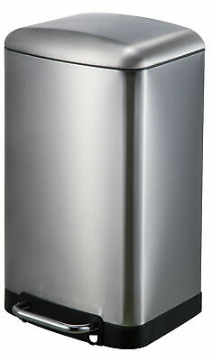 JoyWare Stainless Steel 8 Gallon Step On Trash Can