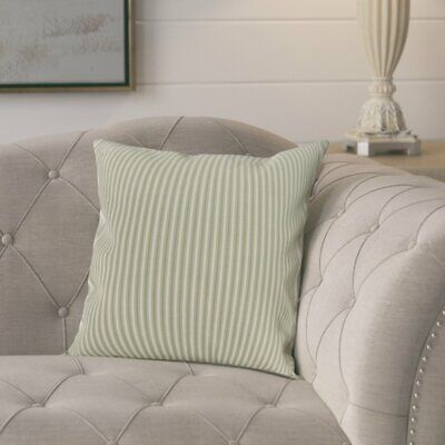 Ophelia & Co. Kaylor Ticking Stripe Indoor/Outdoor Throw Pillow
