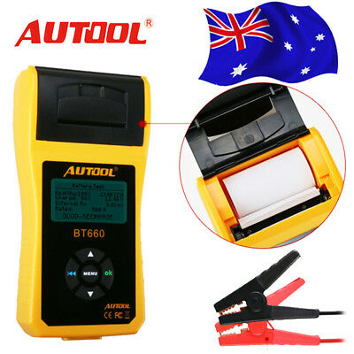 Autool BT660 12V Car Battery System Tester Charging Test + Free Printer AU Stock