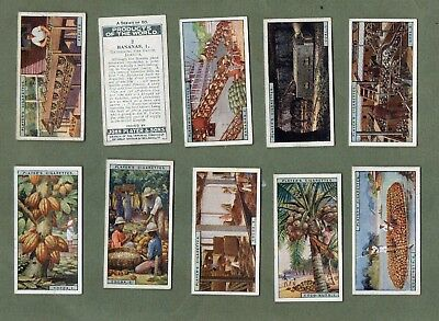 Tobacco cards set Cigarette cards Products of the World 1928 Pearls,Coffee,