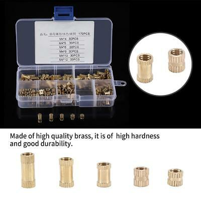 M2 M2.5 M3 M4 M5 M6 M8 Brass Cylinder Knurled Threaded Round Insert Embedded Nut