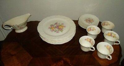 Circa: 1941 - Edwin M. Knowles china co. China with floral pattern 24 pcs. $15
