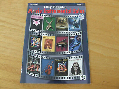 Easy Popular Movie Instrumental Solos mit CD  für Trompete, Level 1