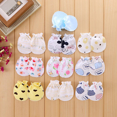 2 Pair Baby Gloves Anti Scratch Face Hand Guards Protection Soft Newborn Mittens