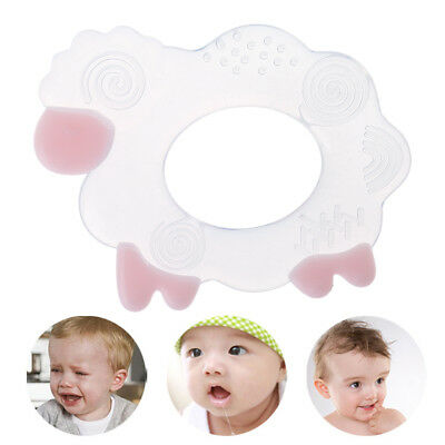 Baby Teether Silicone BPA Free Teething Chew Nursing Sheep Necklace Pendant Toys