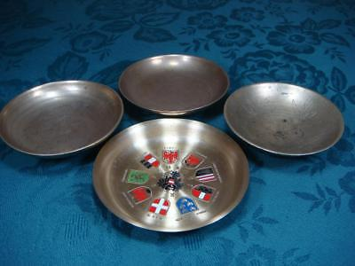 Small Brass Metal ? Dishes X 4