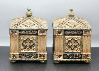 A Pair Of Fantastic French Rococo Design Storage Trinket Boxes Made Of Composite