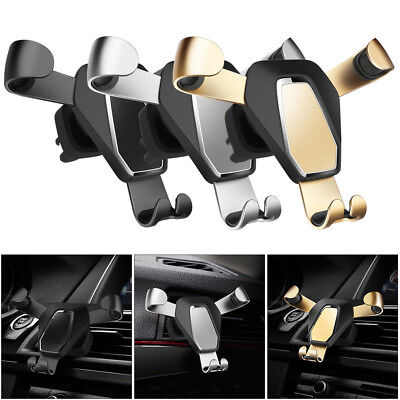 Metal Adjustable Gravity Car Mount Air Vent Stand Holder For Mobile Cell Phone