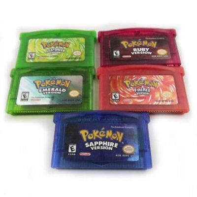 5PCS Game Card Fan Advance For Pokemon NDSL/GBC/GBM/GBA/SP Child Gift