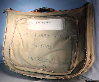 Vintage Original WWII US Army Air Force 449th Bomber Group B-4 Suit Bag Corps