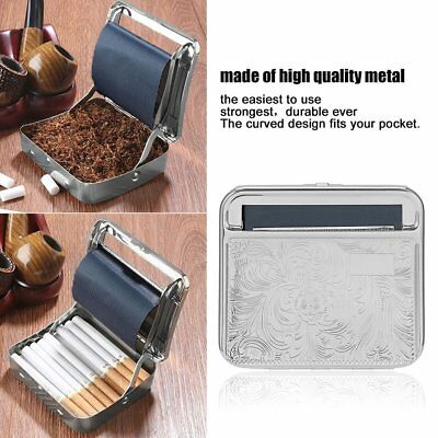 Metal Automatic Cigarette Tobacco Roller Roll Rolling Machine Box Case Tin G~HT
