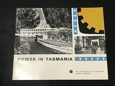 Vintage Visitors Booklet POWER IN TASMANIA Hydro-Electric Commission c1969 Maps
