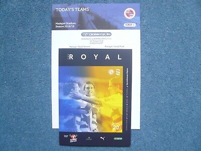 18/19 - READING v BIRMINGHAM CITY (WITH OFFICIAL TEAMSHEET) - CARABAO CUP - MINT