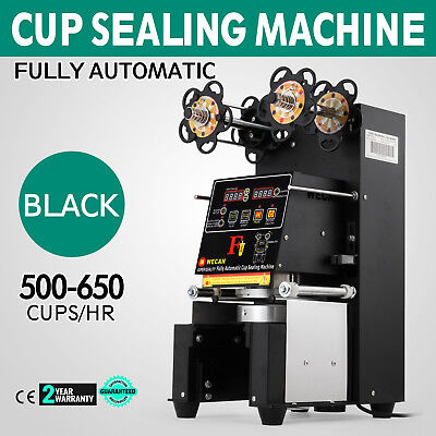 Electric Fully Automatic Cup Sealing Machine Pet Cups 180mm Height 420W 110V