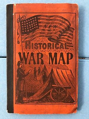 1864 PHELPS & WATSON`S Historical & Military Map Border & Southern States