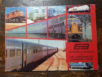 Vintage Train Rail COMENG Brochure: Commonwealth Engineering Group