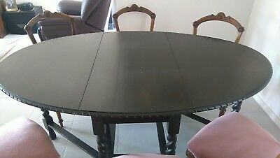 Antique Jacobian Gate Leg 6 Seater Table. NOT INCLUDING CHAIRS