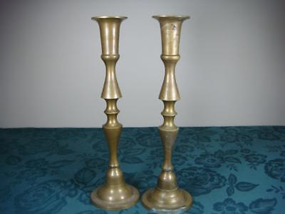 Vintage Brass ? Metal  Candle Holders