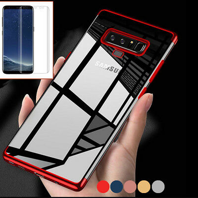 For Samsung Galaxy Note 9 Luxury Slim Shockproof Case Cover + Screen Protector