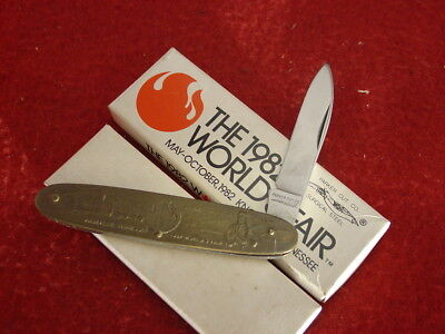 "Parker Made in Japan 3-3/8"" 1982 Knoxville World's Fair knife MINT"