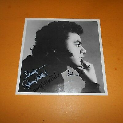 Johnny Mathis is an American singer of popular music Hand Signed Photo