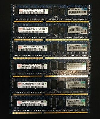 Hynix 64GB (8x8GB) PC3-12800R DDR3-1600MHz Memory HP DELL Lenovo Supermicro
