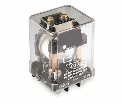 240VAC, 9-Pin Square Base Latching Plug-In Relay; AC Contact Rating: 10A @ 277V