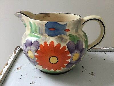1930s hand painted arthur wood jug in excellent condition
