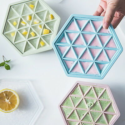 Ice Cube Trays Hexagon Shape Ice Moulds Chocolate Jelly Sweet Candy Maker Molds