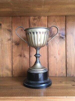 vintage large silver plate NOT ENGRAVED trophy, trophy, silver, trophies