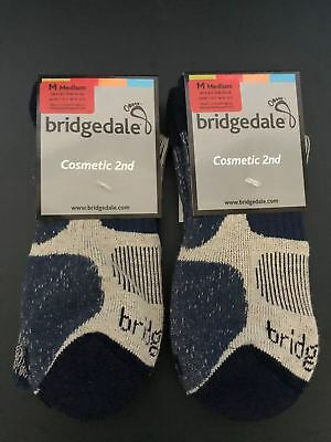2 Pairs of Bridgedale Cool Fusion Light Hiker Socks - Cosmetic 2nd - Indigo