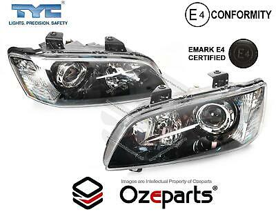 Pair Left+Right Black Projector Headlights For Holden VE Commodore Series 1 '06~