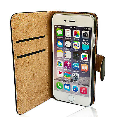 Handy Hülle für Apple iPhone 5s 6s SE Plus Case Cover Tasche Schutz Etui Wallet
