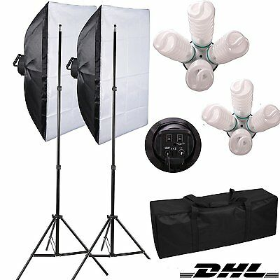 8x135W Fotostudio Set Softbox Set Studioleuchte Studiolampe 50x70cm Softbox DHL