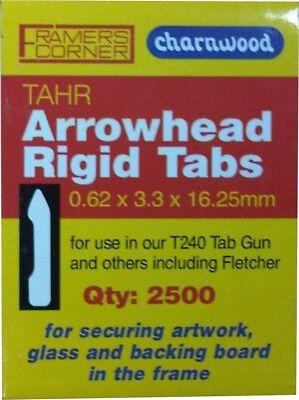 Framers Corner TAHR Picture Framing Tabs 16mm Arrowhead Type, Use with T240