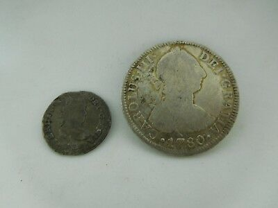 1780 Mexican 2 real & 1 Cull Real