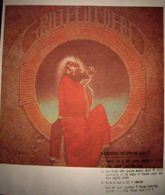 RARE 70s Iron On T-Shirt Transfer Grateful Dead - Blues For Allah Jerry Garcia