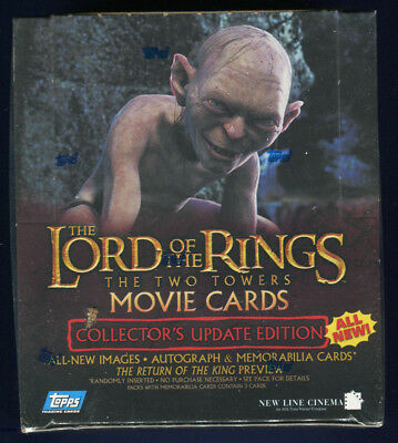 2003 Topps LOTR Rings Two Towers Factory Sealed Collector's Update Hobby Box (E)